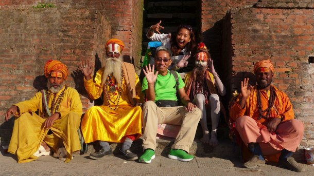 Baba and I with the friendly Sadhus!