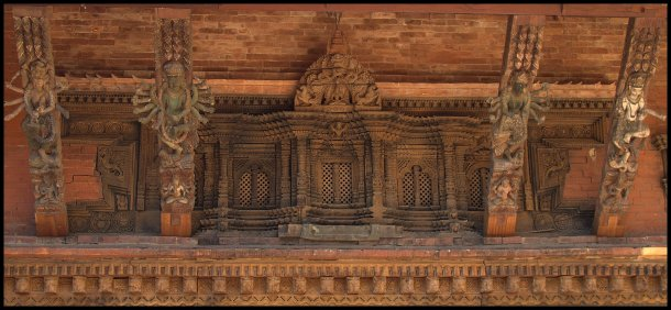 Beautiful carvings around the buildings