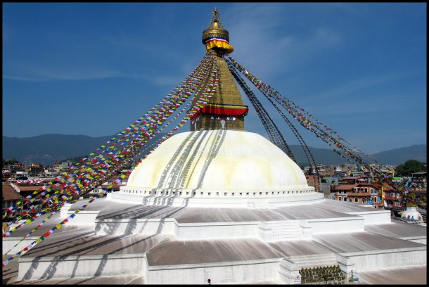 The Great Stupa of Boudhanath - one of the largest Buddhist stupas in the world